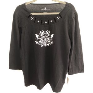 Alfred Dunner Easy Going Look Top w/ Embellishment